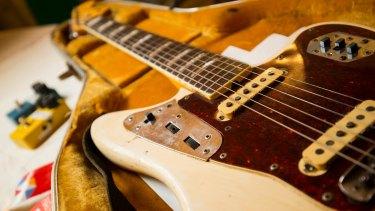 Fender Jaguar guitar used by Rowland S. Howard, 1978-2009.