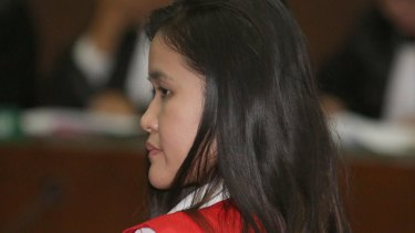Jessica Wongso, who prosecutors allege poisoned her friend with a Vietnamese iced coffee.