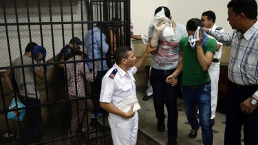 "Eight Egyptian men were convicted for ""inciting debauchery"" in 2014 following their appearance in a video of an alleged same-sex wedding party."