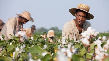 Chiwetel Ejiofor in <i>12 Years A Slave</i>, for which Pitt won an Oscar as producer.