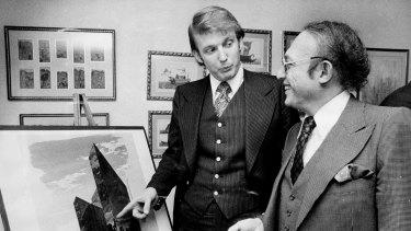 Donald Trump with Alfred Eisenpreis, New York City Economic Development Administrator, in 1976.