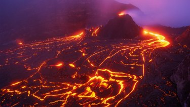 Kilauea Volcano and lava flow on the island of Hawaii. File photo.