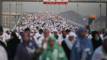 Hundreds of thousands of pilgrims on Thursday make their way to perform the last rite of the Haj in Mina.