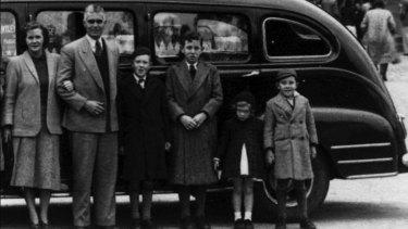 The Kirby family, circa 1952: Jean, Don, Donald, Michael, Diana and David.