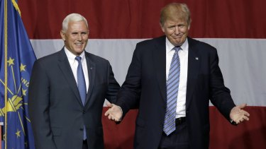 Donald Trump with Mike Pence.
