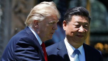 US President Donald Trump and  Chinese President Xi Jinping at their meeting in Florida on April 7.