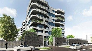 "Plans for the ""Coburg Quarter"" development proposed by Future Estate for the former Pentridge Prison site."