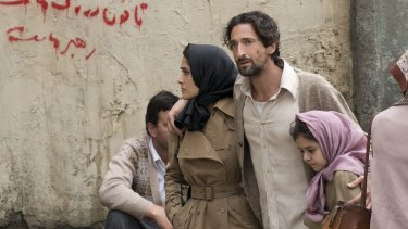 Salma Hayek and Adrien Brody in <i>Septembers of Shiraz</i>.