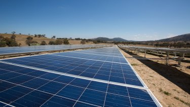 The solar panels at Williamsdale form the southern stretch of the ACT's 'solar highway'.