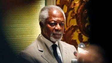Former UN Secretary-General and Rakhine State Advisory Commission Chairman Kofi Annan.