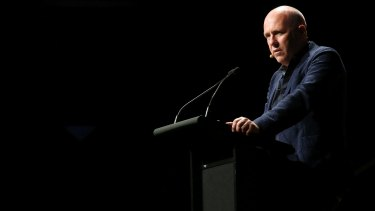Richard Flanagan delivered a blunt message to the government on copyright