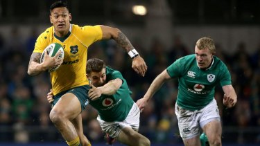 Ireland beat Australia in the sides' last meeting in Dunedin in 2016.