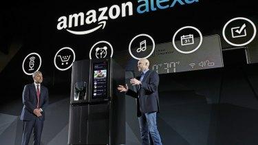 LG's Instaview voice-controlled Smart Fridge, which ties into Amazon's Alexa ecosystem.