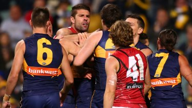 Mark Jamar added to the Bombers's woes by being reported.