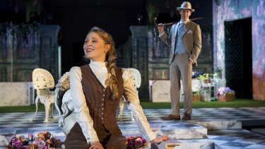 Eloise Winestock, with Aaron Tsindos, in <i>The Importance of Being Earnest.</i>