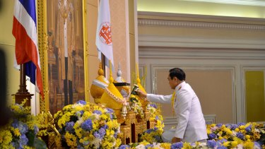 General Prayuth Chan-ocha accepts a royal endorsement certifying his appointment as the country's 29th premier.