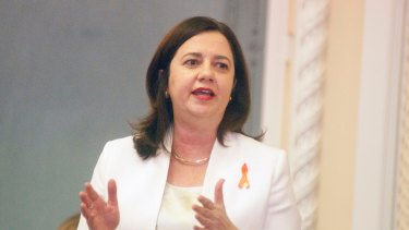 "Premier Annastacia Palaszczuk says it is her ""intention"" that the election will be in 2018."