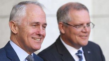 Prime Minister Malcolm Turnbull and Treasurer Scott Morrison.