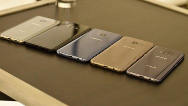 The Galaxy S8 is available in black, grey and gold in Australia.