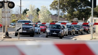 Motorists will be forced to wait longer at train level crossings on bayside lines.