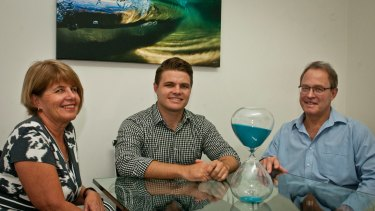 'The best option': Ross Marais with his parents.