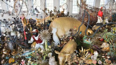 Nick Cave's <i>Until</i> exhibition at Massachusetts Museum of Contemporary Art in Boston.