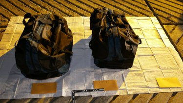 Sports bags, allegedly full of cocaine, intercepted at the Parsley Bay boat ramp on Christmas Day 2016.