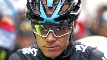 New race leader ... Chris Froome of Britain.
