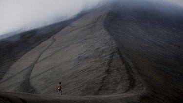 Heading for Venice ... Dain walks up a volcano in <i>Tanna</i>.