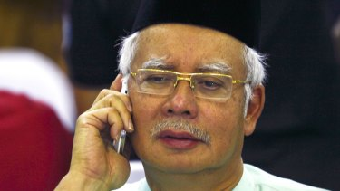 Under pressure from former ally: Malaysian Prime Minister Najib Razak.