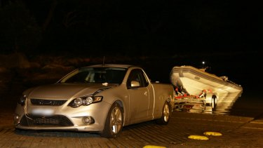 Police raided a dinghy as it docked at the tiny Parsley Bay boat ramp on the Central Coast on Christmas Day 2016.