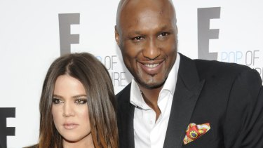 Khloe Kardashian and Lamar Odom from the show Keeping Up With The Kardashians.