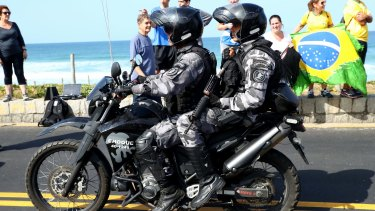 Police numbers have been bolstered in Rio for the Olympics.
