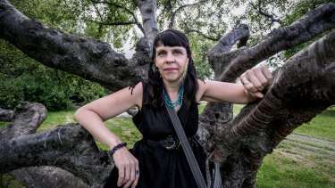 Former Australian resident and head of Iceland's Pirate Party, Birgitta Jonsdottir.