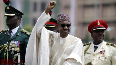 Nigerian President Muhammadu Buhari,  seen here at his inauguration in May, has sacked several military chiefs since coming to power.