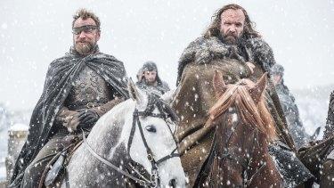 Richard Dormer as Beric Dondarrion and Rory McCann as Sandor 'The Hound' Clegane.