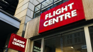 Flight Centre has admitted to losing market share in flight and hotel package deals to online rivals.