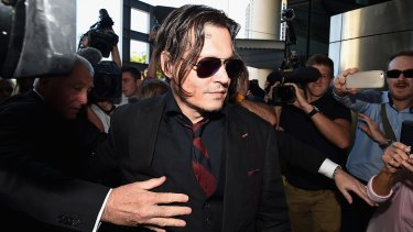 Ina  2009 email exchange Depp pleaded with his management that flying on a commercial aircraft with the paparazzi in tow would be a nightmare.