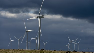 The Macarthur wind farm in western Victoria. The Victorian government has set a target of zero emissions by 2050.