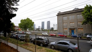 The former factory office being redeveloped by Channel Nine's <i>The Block</i> reality show.