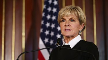 Foreign Affairs Minsiter Julie Bishop.