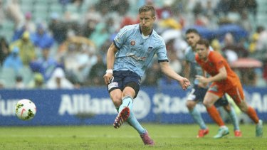 Three and easy:  Marc Janko scored a hat-trick in an open encounter.