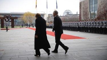 Prime Minister Malcolm Turnbull and German Chancellor Angela Merkel.