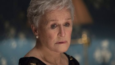 Glenn Close as Joan. It's plain that an explosion is looming.