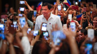 Philippine President Rodrigo Duterte says he looks forward to working with US president elect Donald Trump.