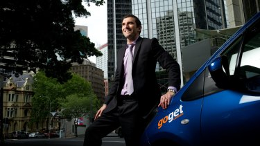 Richard Poulton, of AFEX, uses GoGet vehicles to get around.