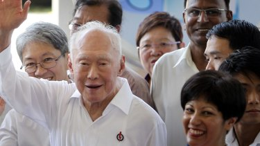 Singapore's then Minister Mentor Lee Kuan Yew in 2011.