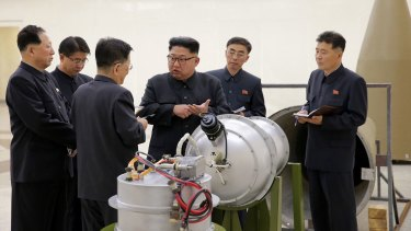 North Korea's state media said leader Kim Jong Un inspected the loading of a hydrogen bomb into a new intercontinental ballistic missile.