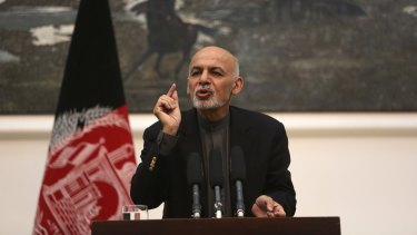 Afghan President Ashraf Ghani in Kabul earlier this month.
