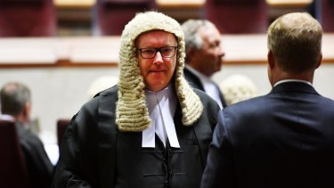 """Senator Brandis praised Justice Kiefel's """"demanding intelligence"""" and """"unerring instinct for the critical issue in a case""""."""